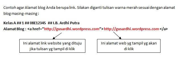 membuat link tugas